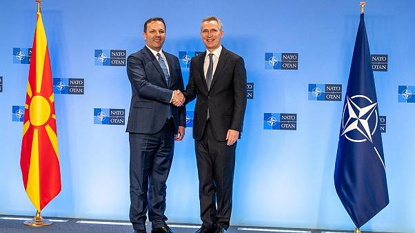 The Prime Minister of the Republic of North Macedonia, Oliver Spasovski visits NATO and meets with NATO Secretary General Jens Stoltenberg