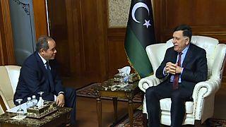 فايز السراج، رئيس المجلس الرئاسي الرئاسي المعترف به دوليا ووزير الخارجية الجزائري صبري بوقادوم