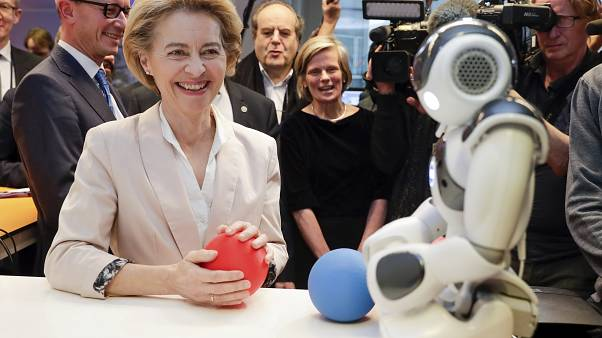 President of the European Commission Ursula von der Leyen at the AI Xperience Center in Brussels