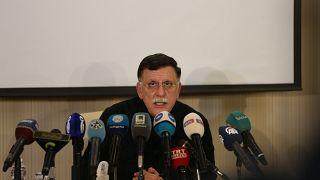 Uluslararası tanınırlığa sahip Libya Ulusal Mutabakat Hükümeti (UMH) Başkanı Fayiz es-Serrac