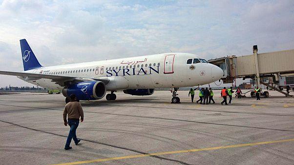Suriye'de 8 yıl aradan sonra Halep ile Şam arasında ilk uçak seferi