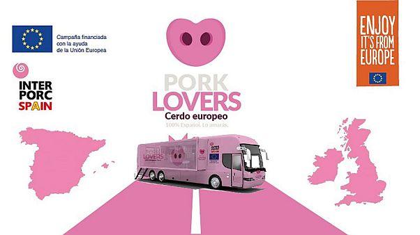 Cartel de la campaña de promoción del cerdo Pork Lovers