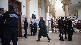 المحكمة التي تم فيها محاكمة مغني الراب المغربي كناوي بتهمة إهانة الشرطة، في مدينة سلا، المغرب - الاثنين 25 نوفمبر  2019
