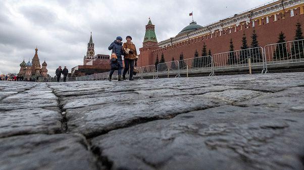 La Place Rouge déserte à Moscou, le 19 février 2020