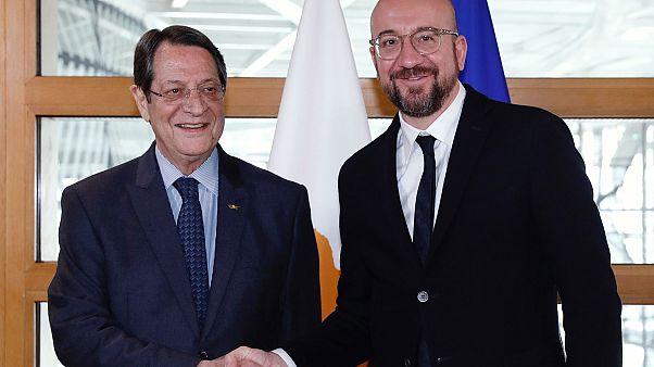 Ο Πρόεδρος της Δημοκρατίας, Νίκος Αναστασιάδης με τον Πρόεδρο του Ευρωπαϊκού Συμβουλίου, Charles Michel