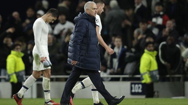 Jose Mourinho, à l'issue du match entre Tottenham et Leipzig, 19 février 2020, Londres