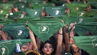 Renovada marea verde en Argentina a favor del aborto legal