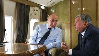 Rusya Devlet Başkanı Vladimir Putin ve Rosneft CEO'su Igor Sechin