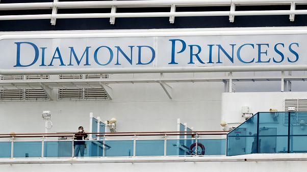 Passengers were quarantined on the Diamond Princess cruise ship after an outbreak of Coronavirus