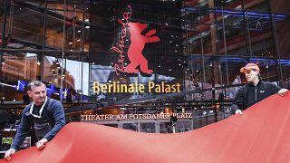 Préparatifs pour la Berlinale démarre à Berlin, Allemagne, le 18 février 2020