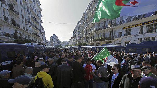 مواطنون ينزلون إلى شوارع العاصمة الجزائر للاحتجاج على الحكومة  31/01/2020