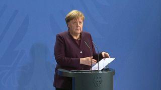 المستشارة الألمانية أنجيلا ميركل- برلين 20 فبراير 2020