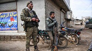 شبهنظامیان مخالف دولت سوریه در منطقهای خارج از ادلب