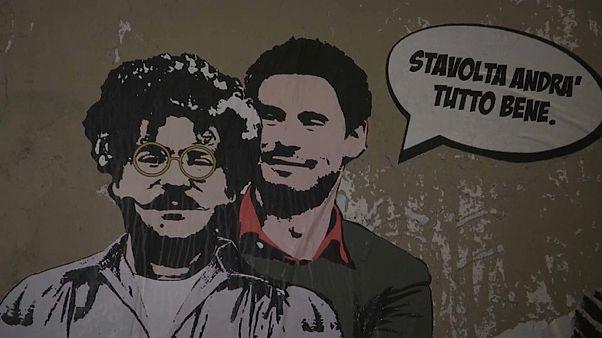 شاهد: لوحة جدارية في روما تضامنا مع الطالب باتريك جورج زكي المعتقل في مصر