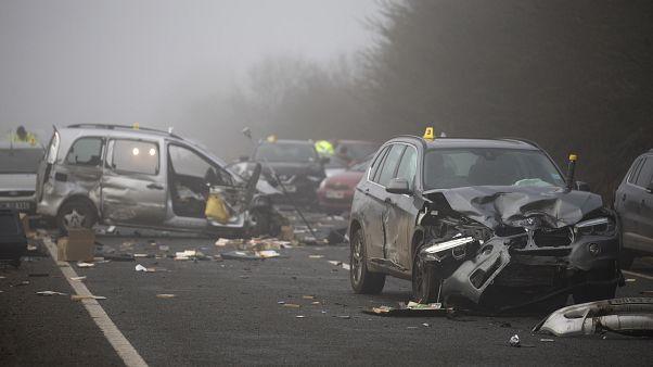 حادث إصطدام عشرات السيارات في كندا/ صورة توضيحية