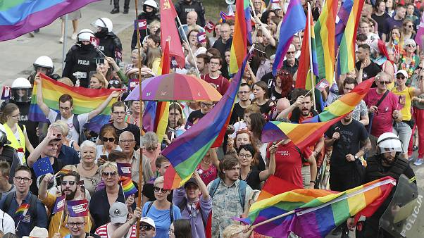 Az első Pride felvonulás a lengyelországi Plockban tavaly augusztusban