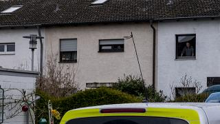 Police searched a house in Hanau, believed to be the place where the suspect was found dead.