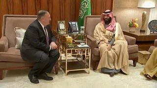 وزير الخارجية الامريكي مايك بومبيو في لقاء مع ولي العهد السعودير الأمير محمد بن سلمان- الرياض 20فبراير 2020