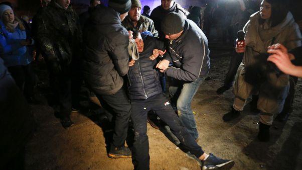 Covid-19 : tensions en Ukraine, manifestation contre des rapatriés