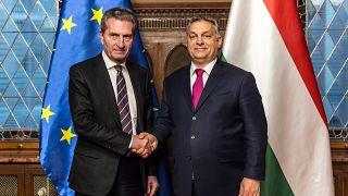 Günther Oettinger és Orbán Viktor