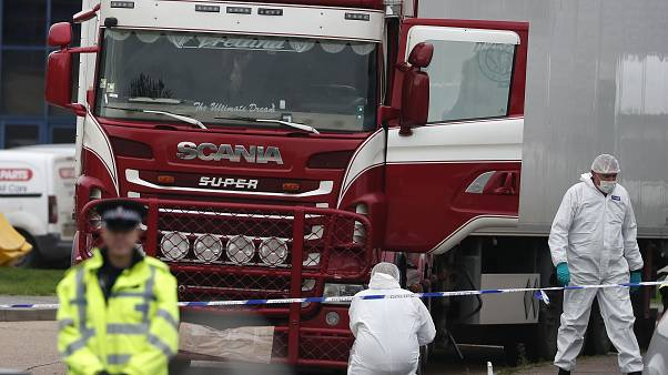 The bodies of 39 people were found in a refrigerated lorry trailer in the town of Grays, Essex.