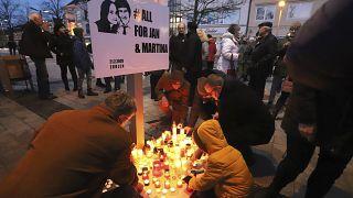 A Kuciak-gyilkosságra emlékeztek
