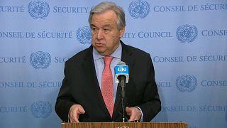 الأمين العام للأمم المتحدة يدعو إلى وضع حدّ للمعاناة الإنسانية في إدلب