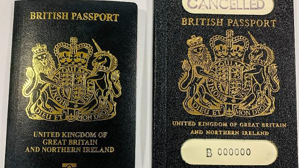 Rollout of UK's new blue passports to begin in March