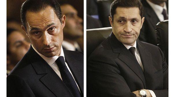 نجلا مبارك علاء وجمال