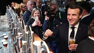 Un salon, des revendications et Emmanuel Macron