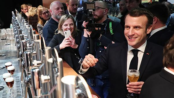 Un salon, des revendications et Emmanuel Macron