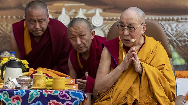 دالاي لاما خلال حضوره اجتماعا حاشدا في الهند. 2019/12/07