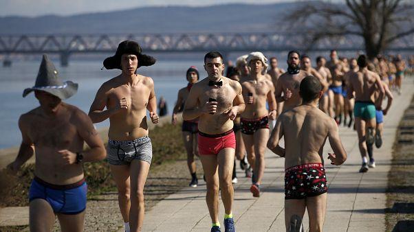 جانب من سباق الملابس الداخلية في بلغراد