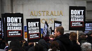 Protestmarsch für WikiLeaks-Gründer Assange