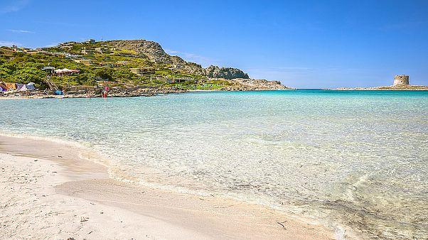 La Pelosa beach, north Sardinia (Italy).
