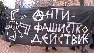 Antifasiszták tüntettek neonácik ellen Bulgáriában