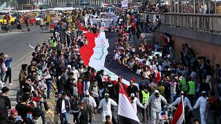 Iraqi students hold anti-government protests