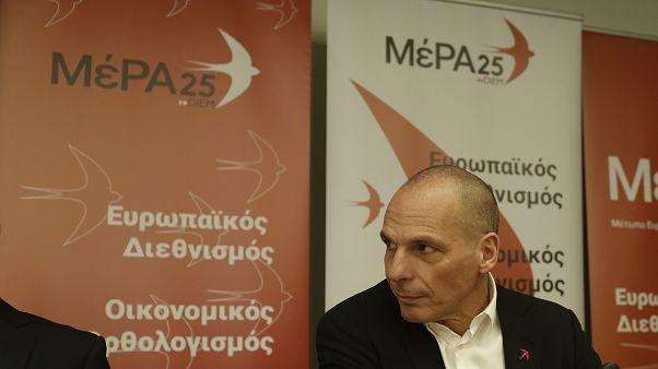 Ο πρόεδρος της Κοινοβουλευτικής Ομάδας και γραμματέας του ΜέΡΑ25 Γιάνης Βαρουφάκης