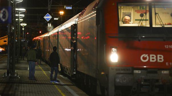 Éjszakai vonat Közép-Európában