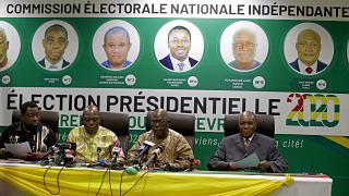 La commission électorale togolaise annonce le résultat de l'élection présidentielle à Lomé, Togo, dimanche 23 février 2020.