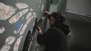 'Vhils' abre a sua primeira grande exposição nos Estados Unidos