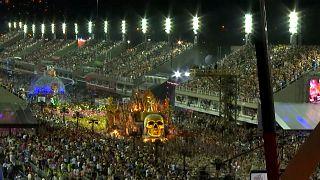 Samba schools show their talents at Rio Carnival parade