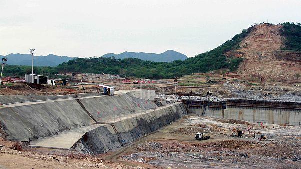 موقع سد النهضة الإثيوبي بالقرب من أسوسا، إثيوبيا