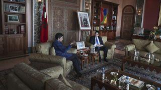 إجتماع بين وزيرة الخارجية الإسبانية أرانشا غونزاليس ووزير الخارجية المغربي ناصر بوريتا 24/01/2020