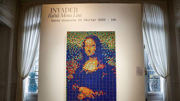 Mona Lisa tablosunun Rubik Kübü'nden oluşan kopyası yaklaşık yarım milyon euroya satıldı