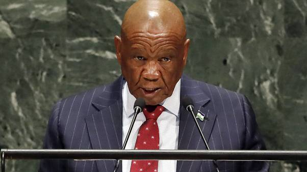 Le Premier ministre du Lesotho, Thomas Thabane à la 74e session de l'Assemblée générale des Nations unies le 27 septembre 2019