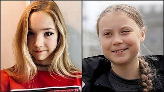 Naomi Seibt ve Greta Thunberg