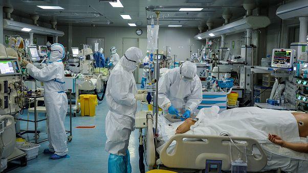 Wuhan'da Covid-19 vakalarının tedavi edildiği hastane