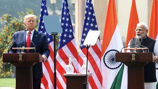 ABD Başkanı Donald Trump ve  Hindistan Başbakanı Narendra Modi