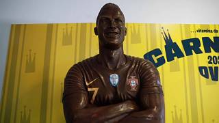 Um Cristiano Ronaldo... em chocolate!